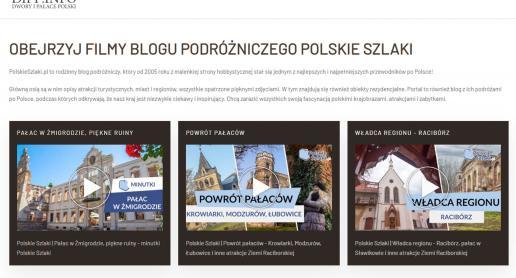 Nasza galeria filmów na stronie Dwory i Pałace Polski - zdjęcie