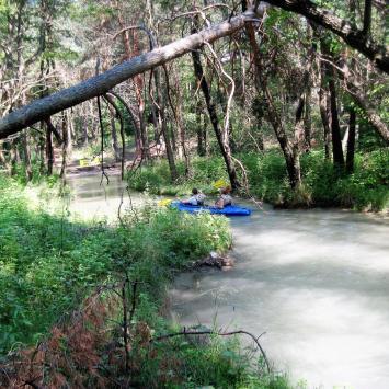 Spływ kajakowy Sztołą w Bukownie