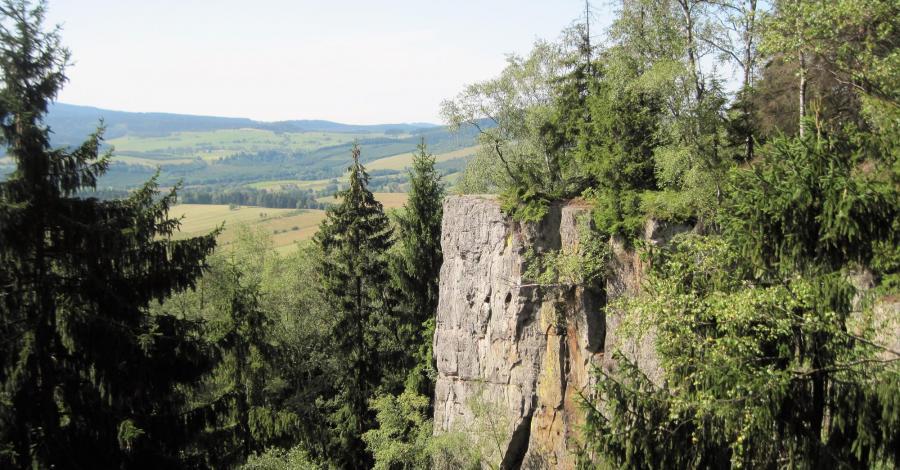 Skały Puchacza w Górach Stołowych - zdjęcie