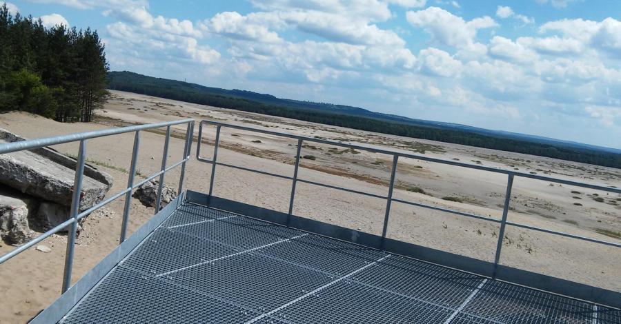 Platforma widokowa w Chechle na Pustyni Błędowskiej, mokunka