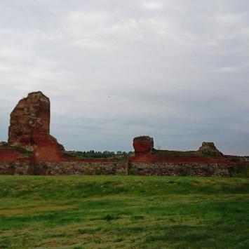 Ruiny zamku w Bobrownikach