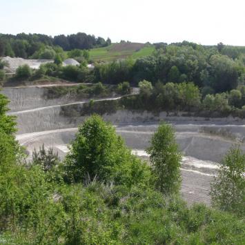 Odkrywkowa kopalnia kredy w Mielniku