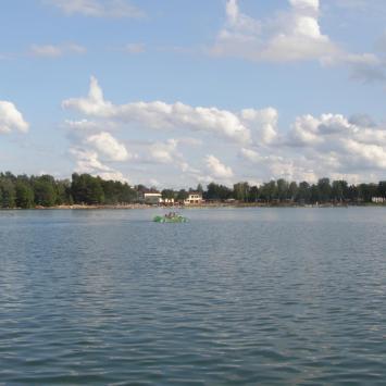 Jezioro Białe w Okunince