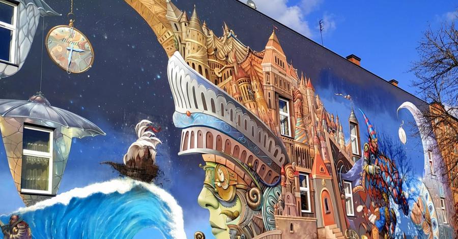 Mural Strażnik czasu w Częstochowie - zdjęcie