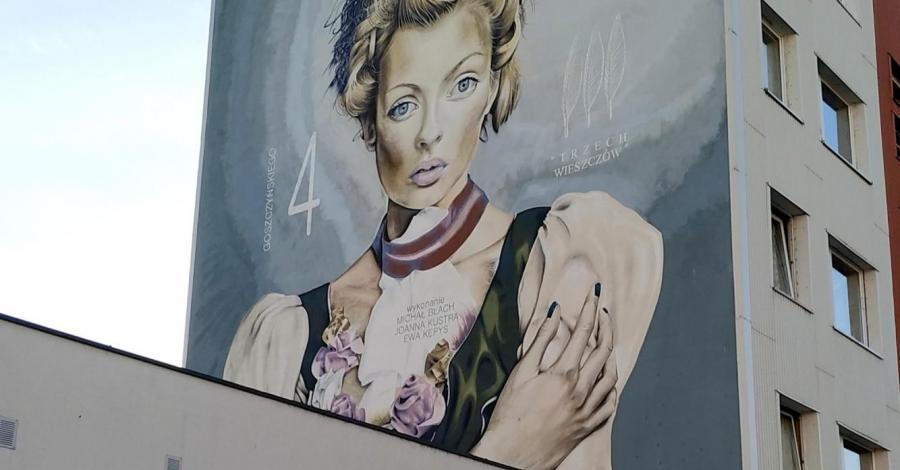 Mural Świtezianka w Częstochowie - zdjęcie