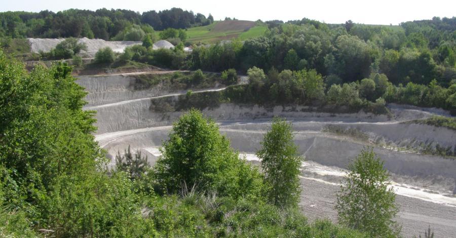 Odkrywkowa kopalnia kredy w Mielniku - zdjęcie
