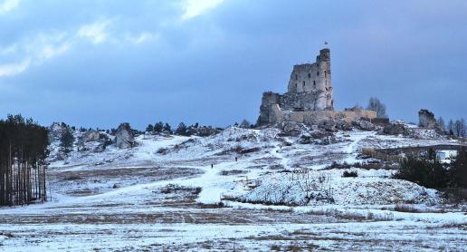 Jurajskie zamki zimą - zdjęcie