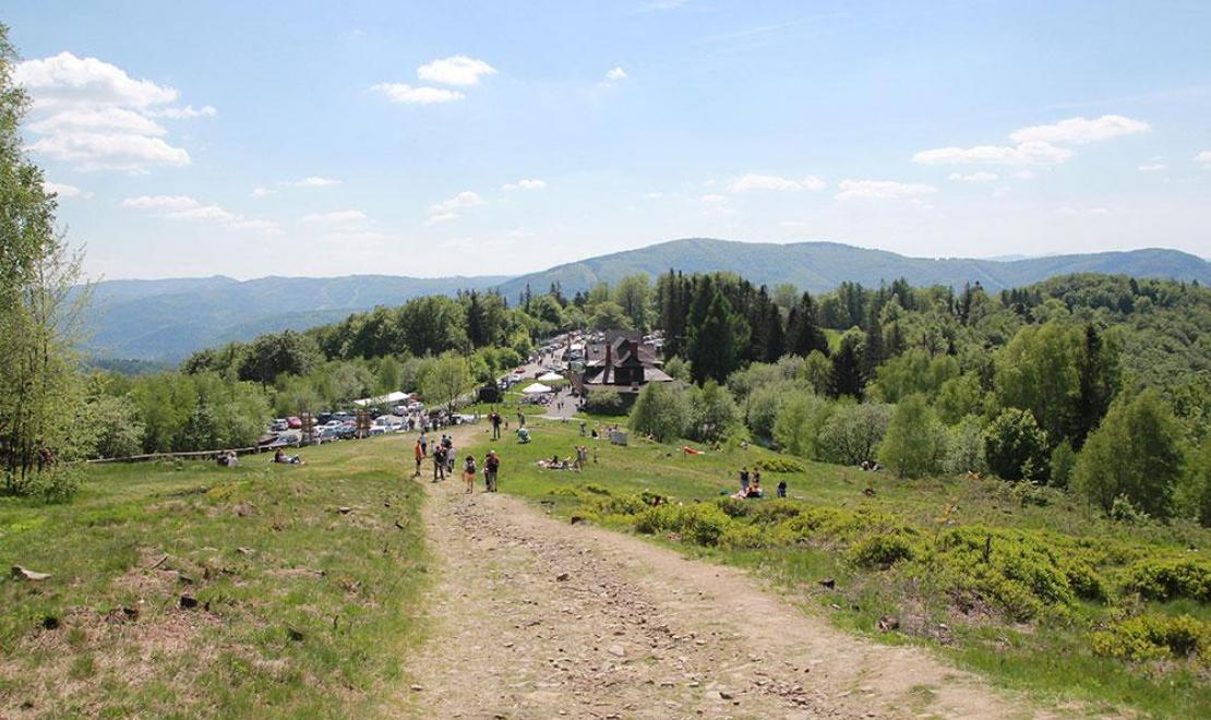 Panoramki beskidzkie ze stoku Równicy