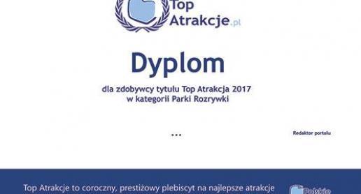 Drukowany Dyplom dla Top Atrakcji 2017 - zdjęcie