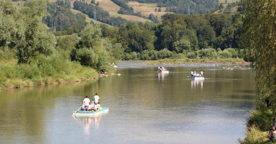 Spływ Popradem w Piwnicznej Zdrój - zdjęcie
