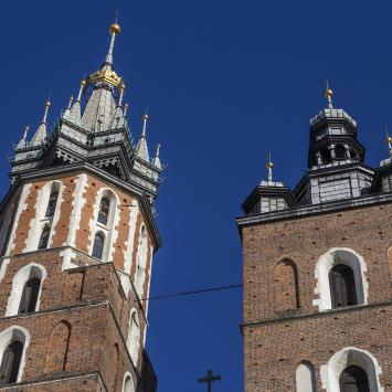 Wieża Mariacka i hejnał w Krakowie