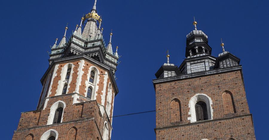 Wieża Mariacka i hejnał w Krakowie - zdjęcie