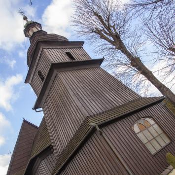 Drewniany kościół w Barwałdzie Dolnym