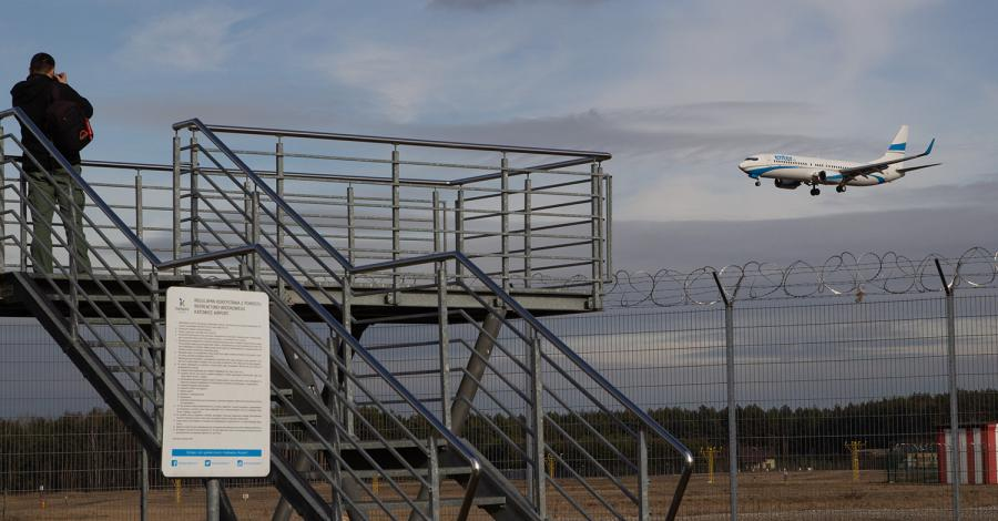 Platformy widokowe na lotnisku w Pyrzowicach - zdjęcie
