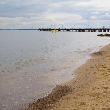 Plaża w Gdyni Orłowie