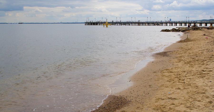 Plaża w Gdyni Orłowie - zdjęcie