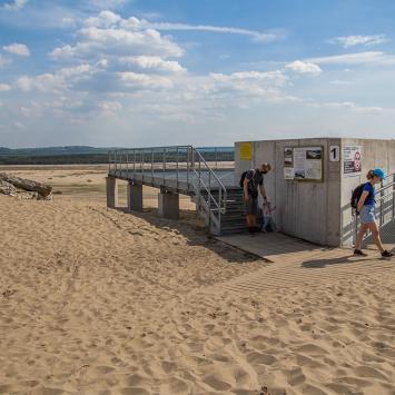 Platforma widokowa w Chechle na Pustyni Błędowskiej