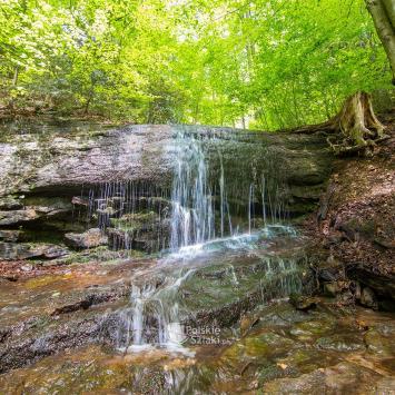 Wodospad Dusica w Beskidzie Małym