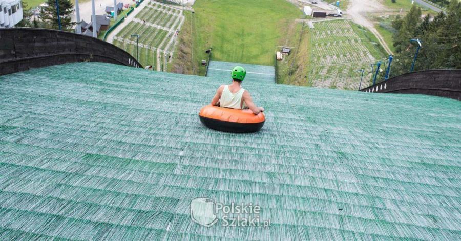 Zjazd pontonem z Wielkiej Krokwi w Zakopanem - zdjęcie