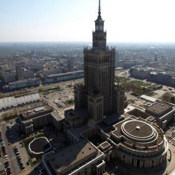 Warszawa z dachu InterContinental