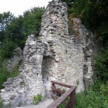 w ruinach zamku Sobień - zdjęcie