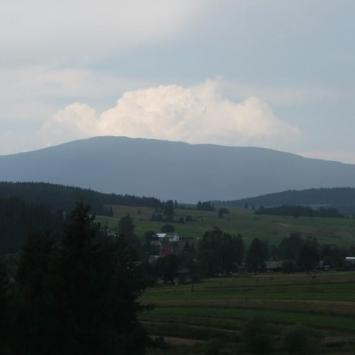 Jabłonka - miejscowośc z widokiem na Babią Górę
