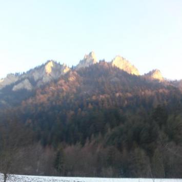 Pieniny Zimą luty 2011