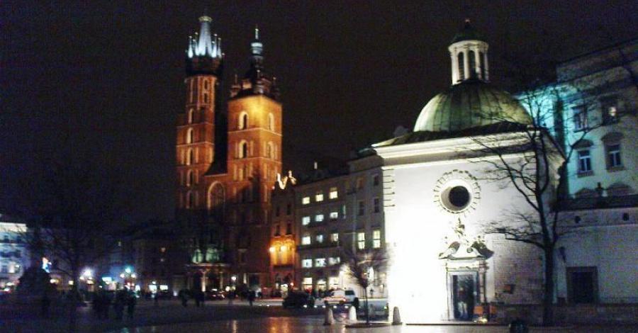 Nocny spacer ulicami Krakowa - zdjęcie