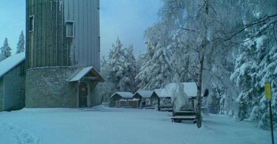 W rakietach śnieżnych na Górę Borówkową - zdjęcie