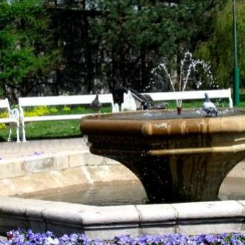 Skwer z fontanną w Rybniku