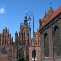 Gdańsk - spalony kościół Św. Katarzyny