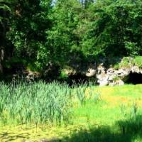Park w Świerklańcu - kamienny most