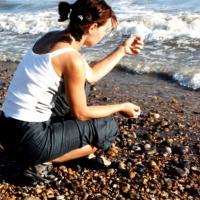 Kamienista plaża w Brighton