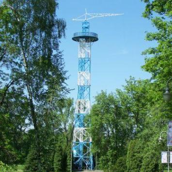 Wieża Spadochronowa, rekonrukcja z lat 1946-1947, w parku im. generała Tadeusza Kościuszki