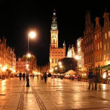 Gdańsk - Trakt Królewski nocą