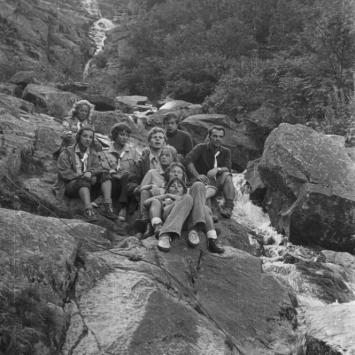3. 1973 Sudety, obóz wędrowny