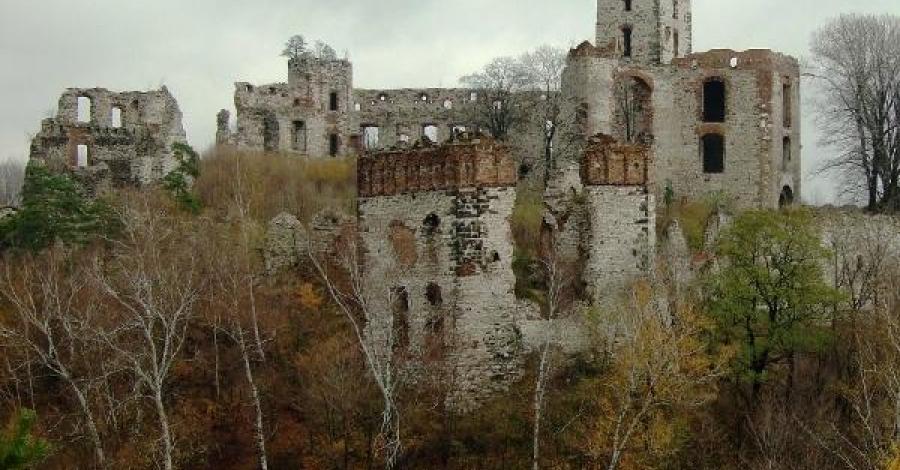 ruiny zamku Tęczyńskich w Rudnie - zdjęcie