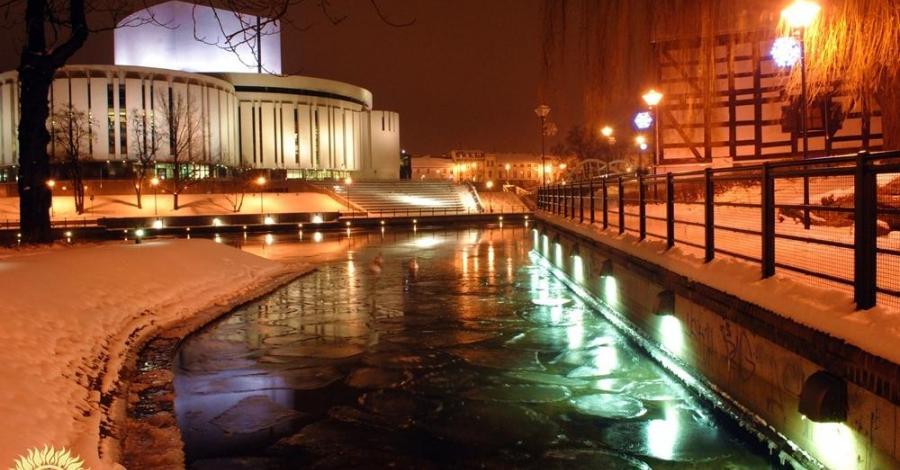 Wyspa Młyńska zimą – styczeń 2013 - zdjęcie