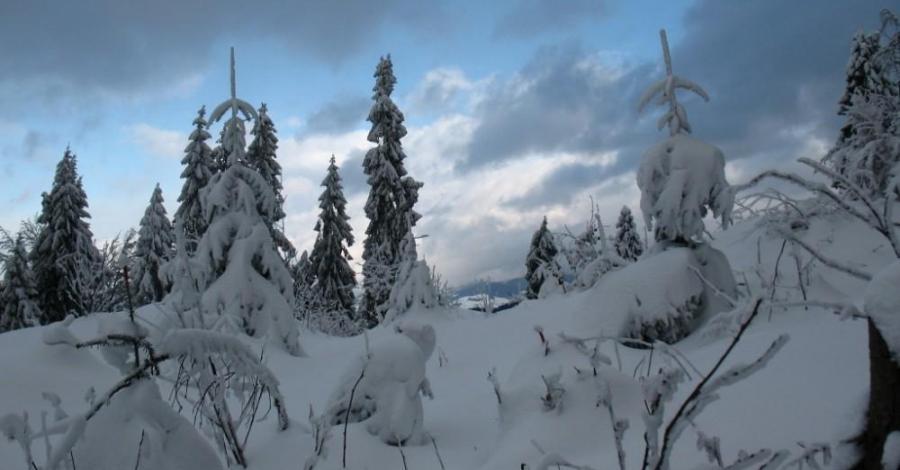Gorce - zimowe wspominki - Rabka, Maciejowa, Stare Wierchy, Turbacz, Nowy Targ - zdjęcie