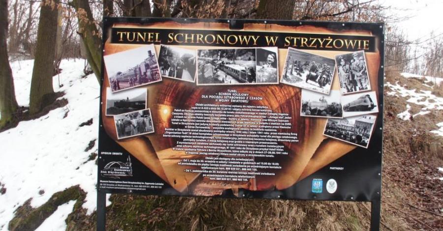 Podziemny schron kolejowy w Strzyżowie - zdjęcie