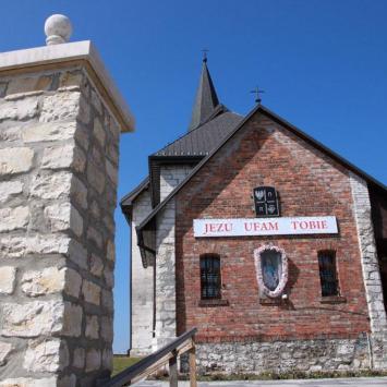Romański kościół w Gieble