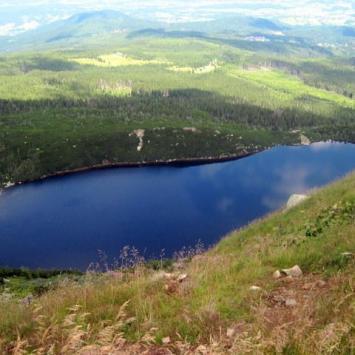 górskie jeziorko polodowcowe Kocioł Wielkiego Stawu