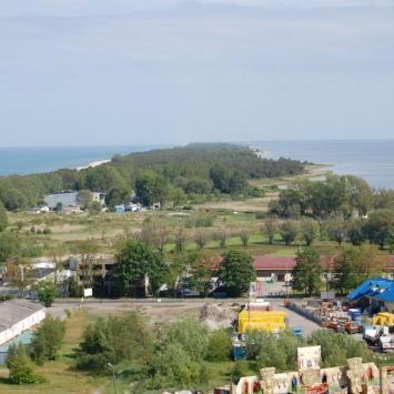 Widok z wieży DR na płw. helski, Jan Nowak