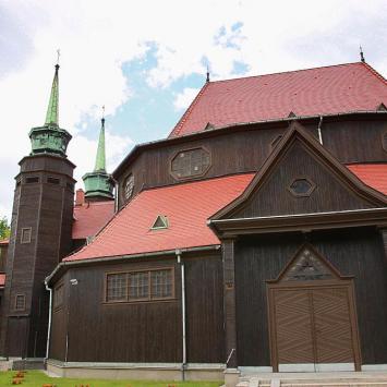 Szlak Architektury Drewnianej - Kościół Św. Jadwigi w Zabrzu