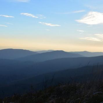 wschód słońca na Smereku