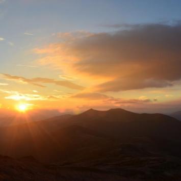 wschód słońca na Smereku, Maciej A