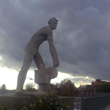 Pomnik kolejarza w Szczecinie