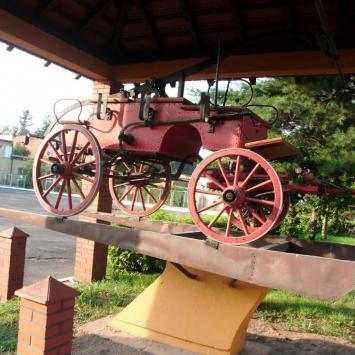Wóz strażacki w Paczkowie