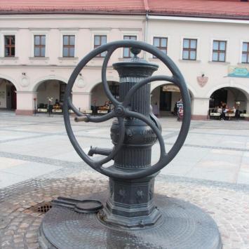 Zabytkowa studnia w Kielcach