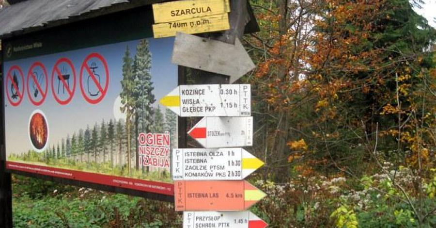 Przełęcz Szarcula w Beskidzie Śląskim - zdjęcie